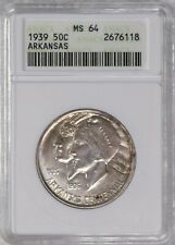 1939-P MS-64 Arkansas Centennial Commemorative Silver Half 2,104 Minted #2