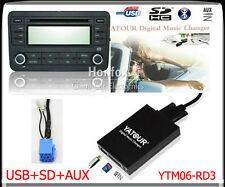 Yatour Digital CD changer for RD3 Peugeot Citroen RB2 RM2 Van-bus SD USB Adapter