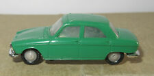 F old made in france 1966 micro norev oh 1/87 peugeot 204 dark green #532