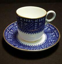 Royal Worcester Dark Blue AESTHETIC Demitasse Cup & Saucer c.1884 #2