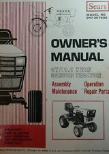 Sears GT 19.9 Garden Tractor & Snow Thrower  Owner & Parts (2 Manual s) 66pg h.p