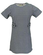 Ladies 60s Retro Mod Vintage Mod Dogtooth Dress
