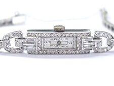 "Ladies Vintage Platinum Diamond Watch 6.75"" 1.22Ct"
