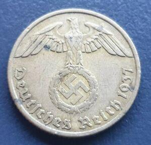 Third Reich Germany 10 Reichspfennig 1937 F