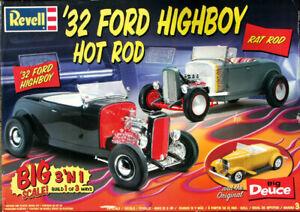 "Monogram Updated ""Big Deuce"" 1932 Ford Roadster Street Rod, 1/8 Scale"