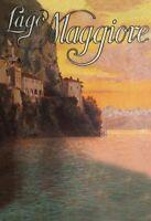 Lago Maggiore gemalt Blechschild Metallschild Schild gewölbt Tin Sign 20 x 30 cm