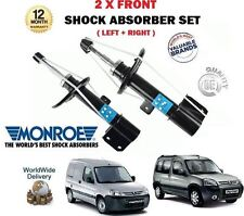 FOR PEUGEOT PARTNER TEPEE + VAN 2008-> 2 X FRONT LH + RH SHOCK ABSORBER SHOCKER