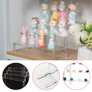 3/4 Tier Transparent Acrylic Display Riser Stand Rack Toy Model Tabletop Decor