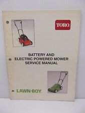 Toro & Lawn Boy Service Manual 492-0693 for Battery & Electric Powered Mowers