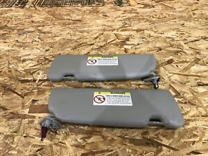 BMW E63 E64 (04-10) 645 650 GRAY SUN VISOR VISORS SET OEM COUPE ONLY