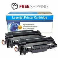 2PK Black Toner Cartridge For HP CE255A 55A LaserJet P3010 P3015 P3015dn Printer