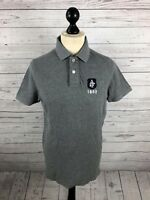 ABERCROMBIE & FITCH Polo Shirt - Large - Grey - Great Condition - Men's