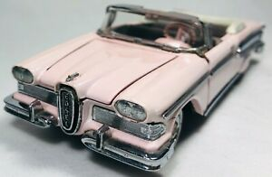 Franklin Mint 1958 Pink Ford Edsel Convertible 1:43 Scale FM03