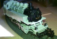 Belle loco vapeur Märklin ref 3096 en rare livrée grise