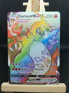 Charizard Vmax 074/073 Champions Path Rainbow Rare Pokemon Card