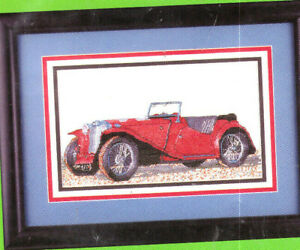 Vintage Car Cross Stitch Treasures Counted Cross Stitch Kit BRAND NEW!