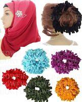 Scrunchie Big Hair Tie Hijab Volumising Bun Velvet Bobble Volumizer Khaleej