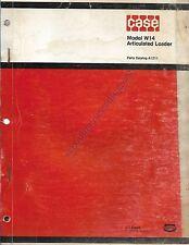 Original Case Parts Catalog No. A1211 Model W14 Articulated Loader 1973