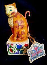 """Jim Shore ~ """"Jasper"""" - #114424 - Enesco - 2003 - Nib - Tan/Yellow Cat - Retired"""