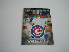 2013 MLB CHICAGO CUBS POCKET SCHEDULE**ANTHONY RIZZO**