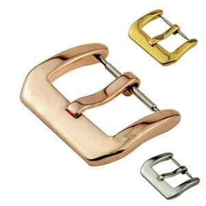 Stainless Steel Watch Band Pin Buckle Parts Strap Clasp 8 10 12 14 16 18 20mm