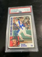 Wade Boggs Boston Red Sox autograph signed 1984 Topps baseball card PSA!