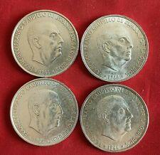 Lote 4 Monedas España Franco 100 Pesetas 1966 (Estrellas *66) Excelentes