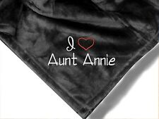 Personalized Monogrammed Throw Blanket w/ Embroidery I Love My Aunt Blanket