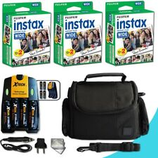 60 Instax Film + 4 Batteries / Charger + Case +MORE f/ Fuji 210 Wide
