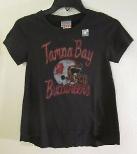 NWT Junk Food Tampa Bay Buccaneers Preschool Boys Vintage Logo T-Shirt 12 Black