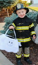 POTTERY BARN KIDS Firefighter HALLOWEEN Costume BIB OVERALLS 6-8 6/7/8 NWT/NEW