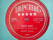 78 Tours SMILEY LEWIS-LILLIE MAE/THE BELLS ARE RIGING