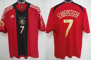 2008-2009 Germany DFB Player Jersey Shirt Trikot Away Adidas Schweinsteiger #7 L