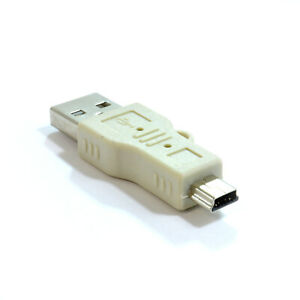 USB 2.0 Mini B 5 Pin Plug Adaptor to USB A Male Adapter [002388]