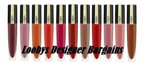 L'OREAL Paris Rouge Signature Matte Liquid Lipstick 7ml - CHOOSE - NEW Sealed