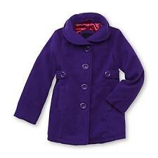 Me Jane Girl's Purple Faux Wool Winter Coat Size 4 NWT