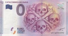 CATACOMBES PARIS - BILLET ZERO EURO SOUVENIR - 2015 - NEUF  (10000 exemplaires)