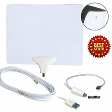 Luxtronic 60 Mile Thin Soft Flat Indoor HDTV Amplified HD TV Antenna Coax