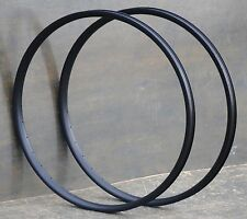 "Black 29"" 36h Velocity Blunt 35 Bicycle Rims 28"" Antique Wood Wheel Cruiser Bike"