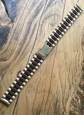 NSA watch band Swiss Made striking ladies yellow gold & brown links 7 sold here