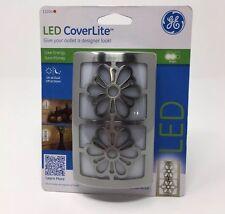 New Night Light GE 12204 with LED Light Sensing Coverlite Brushed Nickel