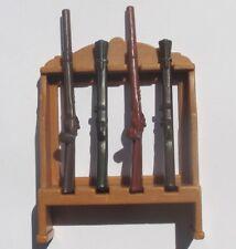 Playmobil Western armas soporte m. 4 x mezclan rifle armas rifles ACW