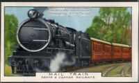 Kenya and Uganda Railways Mail Train Africa 80+ Y/O Trade Ad Card