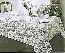 Julia Tablecloth 60x84 White Rectangle Lace Tablecloth Oxford House