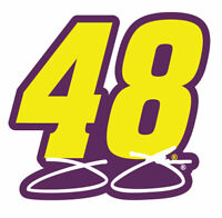 NASCAR Driver Number Decal-Jimmie Johnson #48 Die Cut Sticker