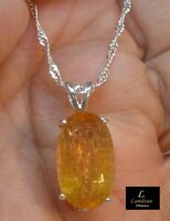 13.55 ct Royal Imperial Topaz Silver Gemstone Pendant