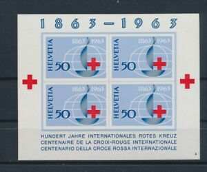 LO67945 Switzerland 1963 centenary red cross imperf sheet MNH