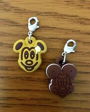 Disney Mickey Icon Snack Food Set of 2 w/ Silver Clasp Charms New in Package