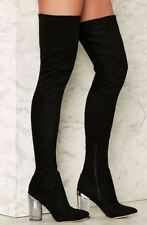 NEW BLACK LUST FOR LIFE FIFTYFOUR OVER THE KNEE BOOT UK5.5 EU38 US7.5