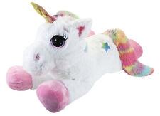 """85cm 33"""" Super Soft Stuffed Giant Unicorn Teddy Cuddly Toy Lying Horse Plush"""